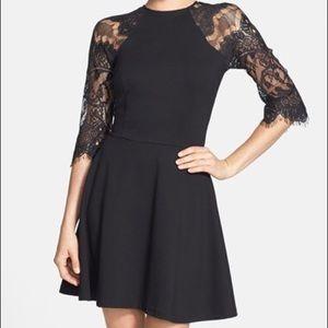 [BB Dakota] Little Black Dress Lace Yale Fitted